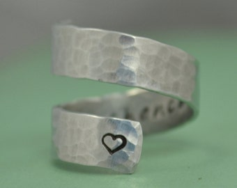 Sister Gift / Sister Rings / Gifts for sisters / Sisters by chance friends by choice / Stocking stuffer / gifts under 20 / sister gift ideas