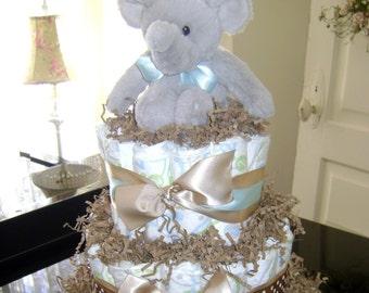 Custom Diaper Cake - ELEPHANT