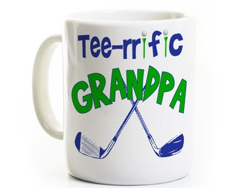 Father's Day Coffee Mug - Golf Mug - Father Uncle Son Grandfather Poppop Grandpop Godfather Birthday Gift - Father's Day Gift
