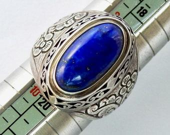 Sterling Lapis Ring