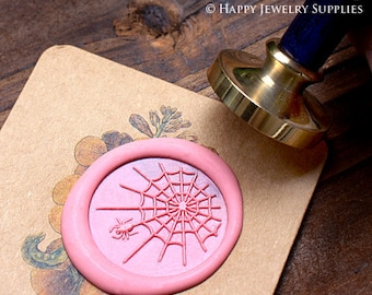 Buy 1 Get 1 Free - 1pcs Spider Web Plated Wax Seal Stamp (WS066)