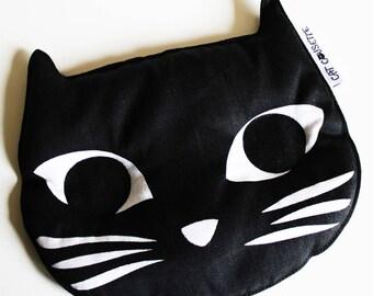 Black Cat Head organic flax seed heating pad