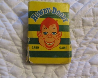 Vintage Howdy Doody Playing Cards Circa 1950's