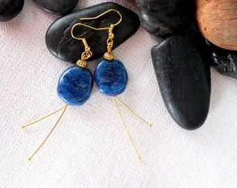 Fine starry night earrings