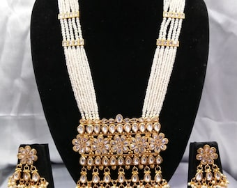 Kundan Rani Haar, Multi Strand Long Haar, Indian Bridal Jewelry, Indian Wedding Jewelry,Bollywood,Temple Jewelry,Polki,Kundan Jewelry,Haram