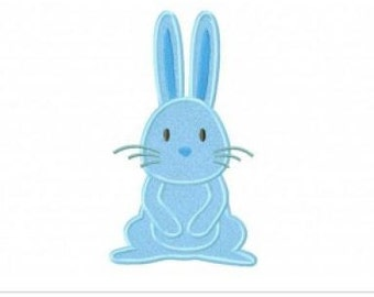 Bunny Embroidery Design Stitch and Applique Instant Download