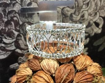 Corsage Bracelet - Royalty Rhinestone - Silver