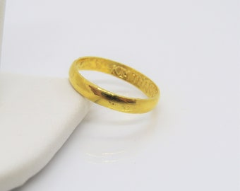 24k gold ring Etsy