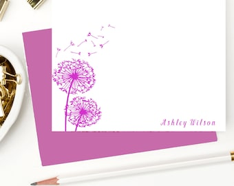 Personalized stationary set for girls, Custom stationery, Personalized note cards, Custom thank you cards, AW116