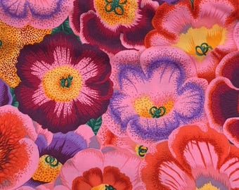 2 yards Gloxinias in pink by Philip Jacobs