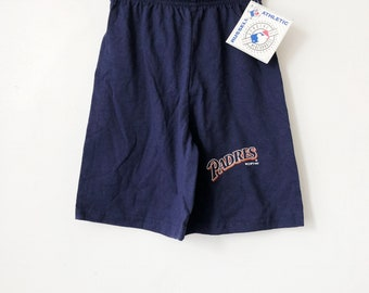vintage san diego padres shorts russell athletic youth size small deadstock NWT 1992 made in USA