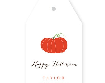 Personalized Halloween Gift Tags, Set of 10