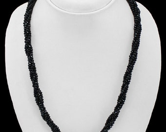 20% OFF COUPON!!!---Black Spinel Faceted Beads Necklace, 168.5 ctw