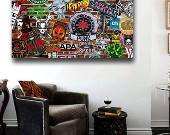 WWE WORLD WRESTLING entertainment canvas poster new 36x24