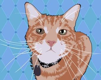 Custom Cartoon Pet Portrait, Pop Art