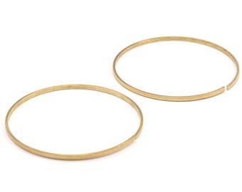 Wire Bracelet Setting , 5 Raw Brass Wire Bracelet (55mm) V004