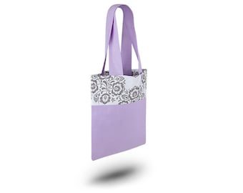 Cotton Bag Loxia Shopping bag Cotton tote bag  - Rainbow FolkPurple