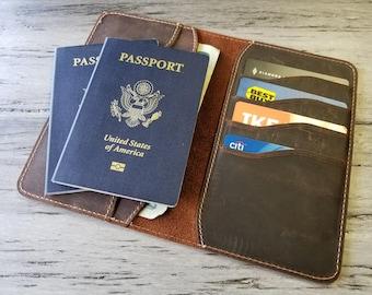 Leather Passport Wallet, passport case, Personalized Passport Wallet, Distressed Leather Travel Wallet, Passport Holder, Passport Cover