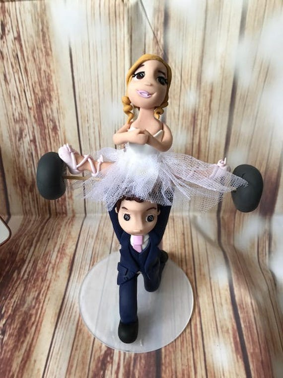 Weight lifting  / crossfit / keep fit / Gym / ballet Wedding Cake Topper - Keepsake - fully personalised