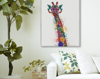 Giraffe kids room - Giraffe 1 Print - Giraffe art Giraffe print Giraffe decor Nursery wall giraffe Safari nursery decor Animal print