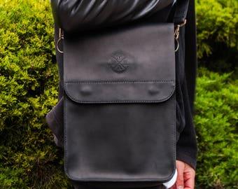 Bag Tablet Leather Bag Genuine Leather Leather Crazy Horse Leather Vintage Leather Bag Laptop Personalized Leather bag Messenger Bag