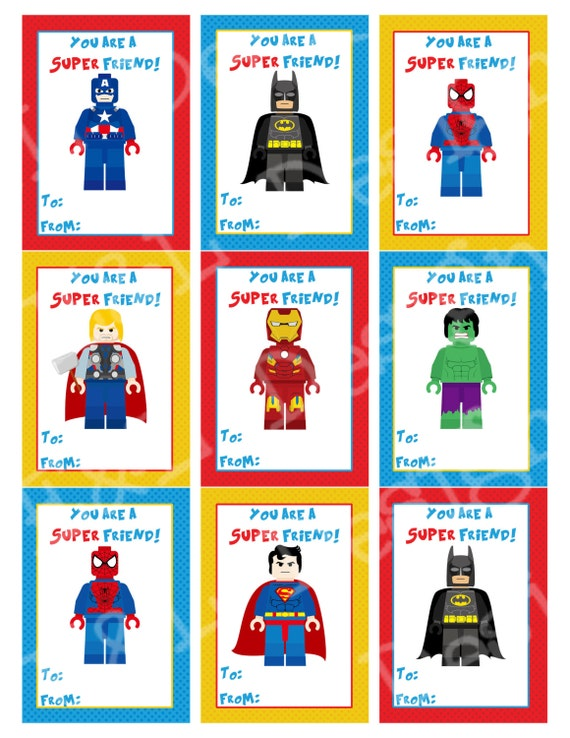 Influential image inside super hero printable