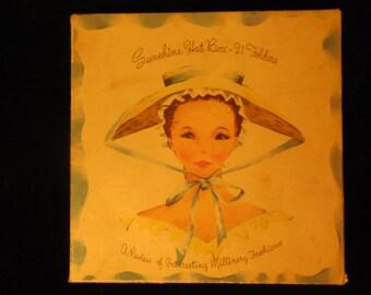Vintage Sunshine Hat Box Note Cards    m275