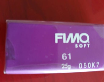 1 semi bread fimo soft purple number 61 to create thousands of creation and achievements of jewelry items