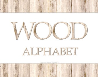 Alphabet clipart Wood alphabet Wood Digital alphabet letters Wood clipart Digital letters Clip art alphabet Clip art letters