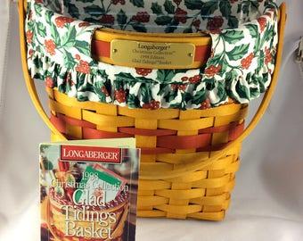 Longaberger Basket Christmas Collection 1998 Edition Glad Tidings