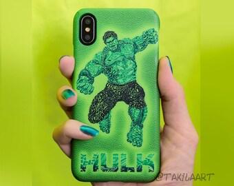Hulk case for iPhone, Samsung, Avengers artwork by Takila