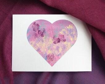 Printable Botanical Heart Postcards, Corokia Studio Design, Wild Strawberry