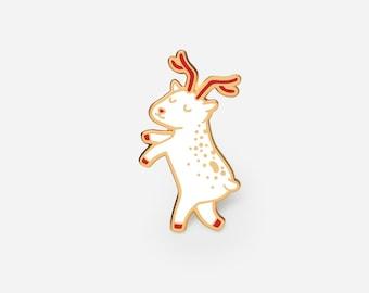Floating Reindeer enamel pin