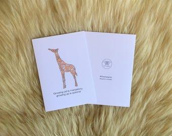 Growing Old Giraffe Birthday Card