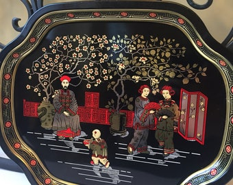 MCM Chinoiserie Metal Tray - Metal Tray Manufacturing Co