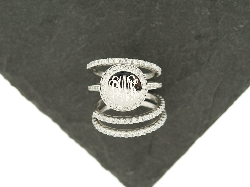jewelry ring monogram view best on initials pinterest lindaeure initial zoom rings images and wedding