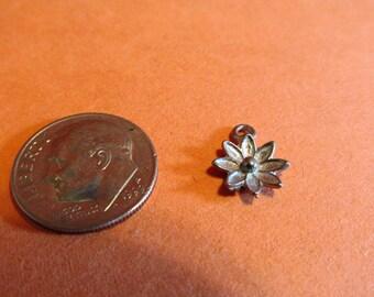 Twenty Pewter Flower Charms