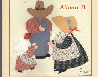 Rare Sunbonnet Family Reunion Album II Book 126 Winning Designs with Complete Instructions Vintage 1990s Book Complete with Patterns