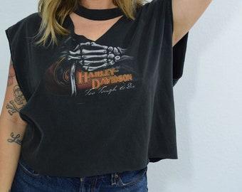 Harley Davidson Choker Style Redone Tee