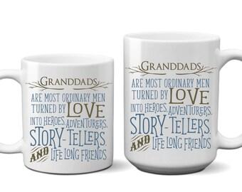 Granddads are Most Ordinary Men Coffee Mug Gift for Father Dad Gift Coffee Mugs for Dad Mug Gift for Grandpa GrandFather Gift Coffee Cup
