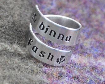 Dinna Fash Wrap Ring - Scottish Jewelry