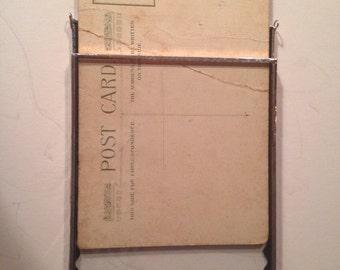 Postcard frame (interchangable) 3 1/2 x 5 1/2 with chain