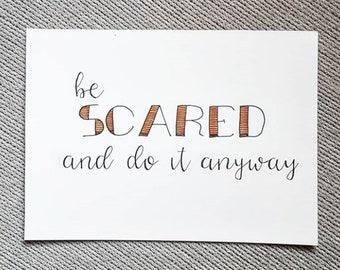 A5 Inspo Card : Scared