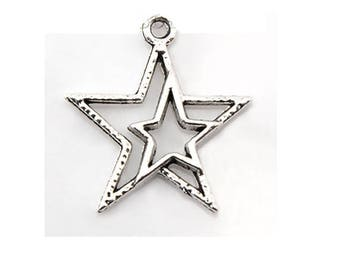 SET of 10 charm star double sky Moon (W68)
