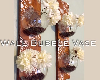 Wall Bubble Vase (one row of 2 terrariums)