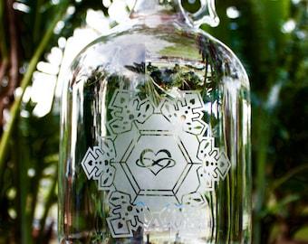 1 Gallon Single Etching Reusable Glass Bottle
