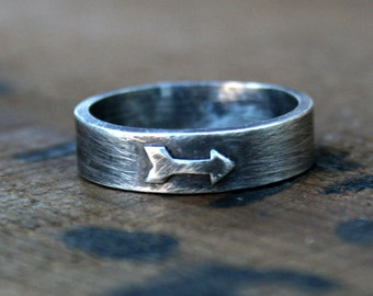 Personalized Jewelry - Custom Sterling Silver Arrow Ring