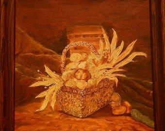 Vintage - Basket of Plenty 19x23
