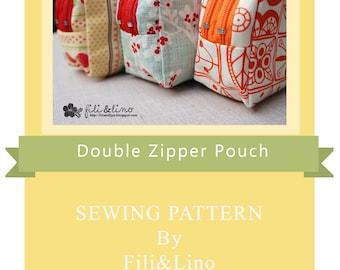 Double Zipper Pouch Pattern
