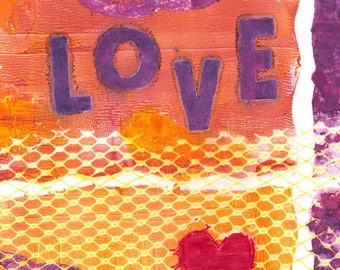 Love -051-Mixed Media Painting by Carianne James